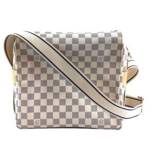 Shoulder Naviglio Damier Azur Canvas Messenger Bag